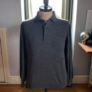 Giorgiolini Made in Italy Wool long sleeve polo